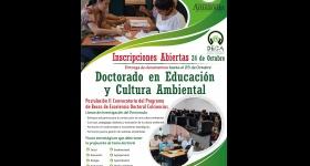 Inscripciones Abiertas - Doctorado en Educación y Cultura Ambiental