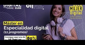 """Becas OIJ – EUDE """"Mujer Digital"""" - Máster en Especialidad Digital, 2021"""
