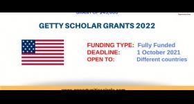 Becas de Getty Foundation Scholar Grants 2021-2022 en Estados Unidos