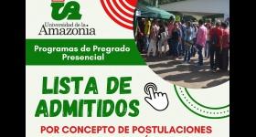 LISTADO DE ADMITIDOS - POR CONCEPTO DE POSTULACIONES O TERCERA OPCIÓN II-2020