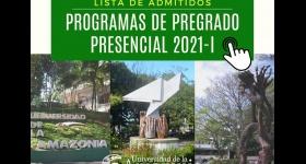 Listado de Admitidos Programas de Pregrado Presencial - Periodo 2021 - I