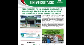 Boletín Informativo de la Universidad de la Amazonia - Julio 2020