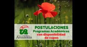 Programas Académicos con disponibilidad de cupos para postulación
