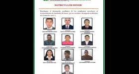 Matricula de Honor - Ingeniería de Sistemas