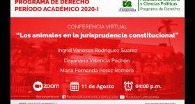 Evento virtual: Los animales en la jurisprudencia constitucional