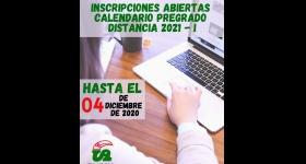 INSCRIPCIONES ABIERTAS - PREGADO DISTANCIA CALENDARIO ACADÉMICO 2021-I