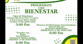 Programación Bienestar Universitario 10 al 15 de Mayo