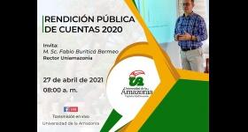 Rendición Pública de Cuentas e Informe de Gestión Rectoral 2020