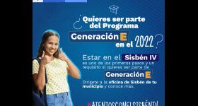 ¿Quieres ser parte del Programa Generación E en el 2022?