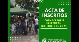 Acta de inscritos - Convocatoria Electoral 002 de 2021