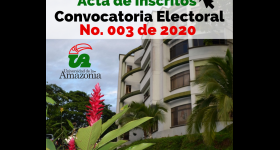 Candidatos inscritos Convocatoria Electoral No. 003 de 2020