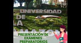 Calendario de presentación de exámenes preparatorios - Programa de Derecho