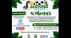 Webinar: Sensibilización Proyecto Aprovechamiento de recursos no maderebales del bosque y subproductos Agroindustriales en la  alimentación de bovinos y porcinos