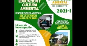Inscripciones abiertas: III Cohorte del Doctorado en Educación y Cultura Ambiental