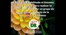 Se encuentra habilitada la encuesta mediante el Sistema misional para definir la situación actual de la Universidad de la Amazonia.  Chairá