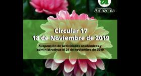 Suspensión de Actividades Académicas y Administrativas - 21 de Noviembre de 2019
