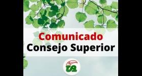 Comunicado - Consejo Superior