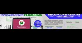 Inscripciones Abiertas - Especialización en Pedagogía 2020-I