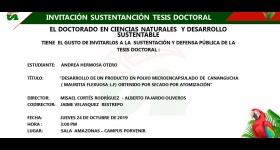 Invitación Sustentación Tesis Doctoral