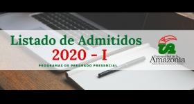 Listado de Admitidos para el Período Académico 2020 - I Programas De Pregrado Presencial