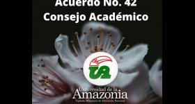 Acuerdo No. 42 - Consejo Académico