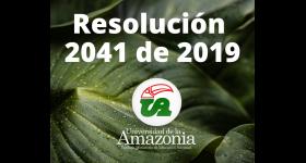 Resolución No. 2041 de 2019 - Concepto de viáticos