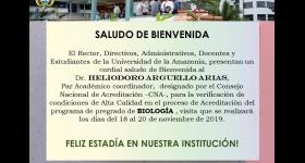 Bienvenida Visita de Pares Académicos - Programa de Biología