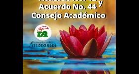 Acuerdo No. 42 y Acuerdo No. 44 - Consejo Académico