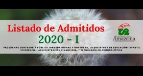 Listado de Admitidos Programas de Contaduría pública jornada diurna y nocturna, Licenciatura en Educación Infantil (Florencia), Administración Financiera y Tecnología en Criminalística