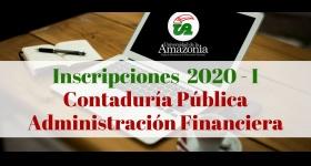 Apertura Inscripciones para contaduría pública y administración financiera