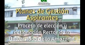 Plan de Gestión Proceso de Designación Rector de la Universidad de la Amazonia