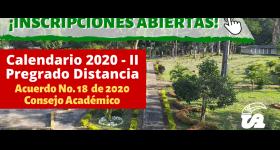 Inscripciones Abiertas - Pregado Distancia Calendario Académico 2020-II