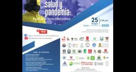 """Conversatorio """"Paz, salud y pandemia. El papel de la Universidad pública"""
