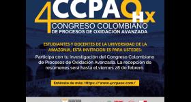 4 Congreso Colombiano de Procesos de Oxidación Avanzada