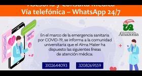 Asesoría y Consulta Médica Vía telefónica – WhatsApp 24/7