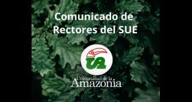 Comunicado Sistema Universitario Estatal - Requerimientos con relación a la emergencia sanitaria generada por el COVID-19
