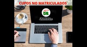 TERCERA REASIGNACIÓN DE CUPOS NO MATRICULADOS