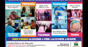 Servicios básicos en el Área de Salud - Bienestar Universitario