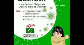 Circular No. 008 - Cumplimiento Obligatorio Encuesta diaria de Síntomas
