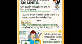 Biblioteca en Línea: Recursos electrónicos disponibles