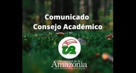 Comunicado Consejo Académico