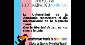 20 DE NOVIEMBRE - DÍA INTERNACIONAL DE LA MEMORIA TRANS