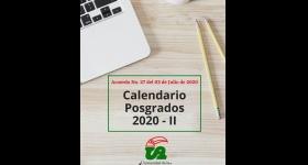 Inscripciones Abiertas / Calendario Posgrados 2020 - II