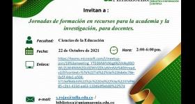 Jornadas de formación en recursos para la academia y la investigación para docentes