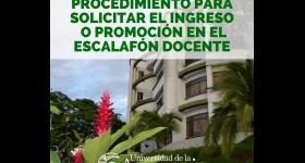 Procedimiento para solicitar el ingreso o promoción en el escalafón docente