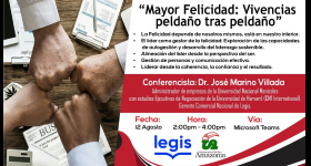 "Conferencia ""Mayor Felicidad: Vivencias peldaño tras peldaño"""