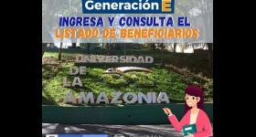Listado de Beneficiarios Programa de Generación E, Componente Equidad E / Período 2021-I