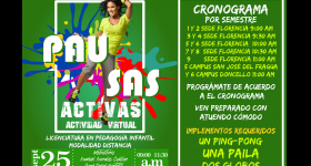 PROGRÁMATE CON LAS PAUSAS ACTIVAS DE BIENESTAR UNIVERSITARIO