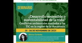 Seminario TIC´s y desarrollo sostenible: desafíos y estrategias en la mitigación de la problemática ambiental